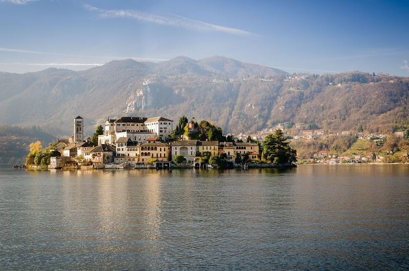 Lake Orta and S. Giulio island in Piedmont