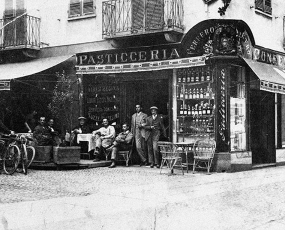 The first Ferrero's pastry shop in Alba