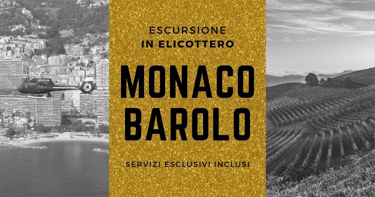 Monaco – Barolo in elicottero